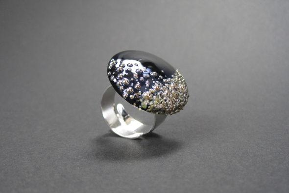 Ring | №200 schwarzer Glitzer
